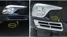 цена на For Toyota Highlander 2011-2013 Chrome Front Bottom Fog Light Lamp Cover Trims, Auto accessories