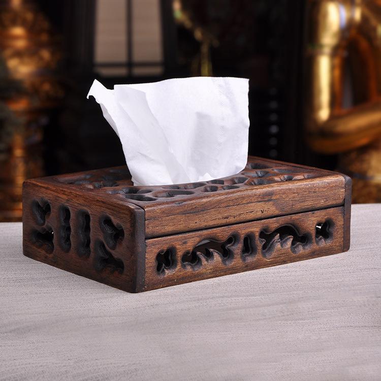 Бытовые твердые деревянные коробки для салфеток гостиная лист бумажная коробка креативное стильное полотенце коробка для отель, ресторан, кафе магазин - Цвет: Красный