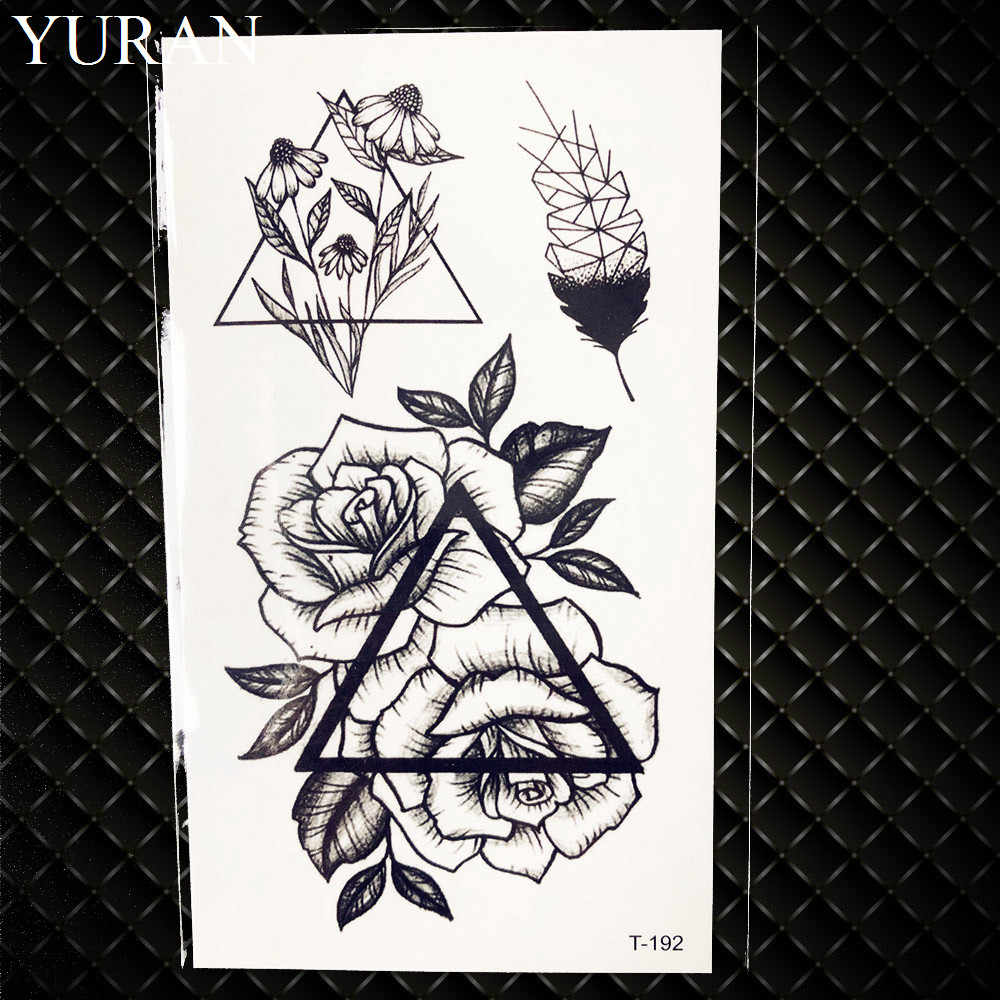 Detail Feedback Questions About Tribal Style Flower Tattoo Stickers