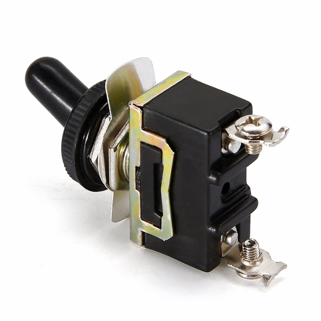 10 Mini Rocker Switch WATERPROOF COVER 250V Black 12V