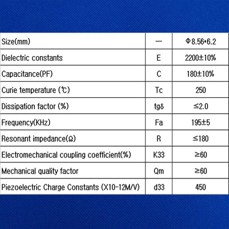 Ультразвуковой Пьезоэлектрический керамический цилиндр 8.56x6.2mm-PZT5 пьезо диск PZT кристаллы датчик элементы зажигания камень передатчики