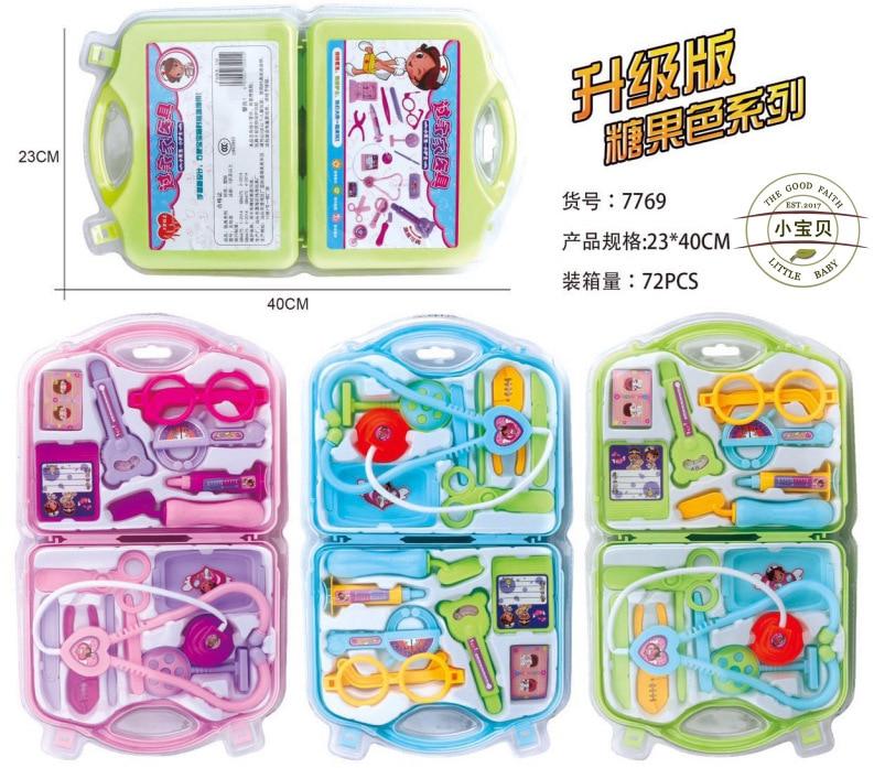 Children s doctor toy set stethoscope boy girls play house simulation simulation injection medical kit