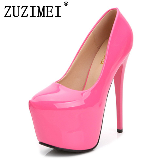 5a8782edf91d Fashion beautiful women shoes high heel 18 cm red bottoms waterproof ultra  heels with soles women