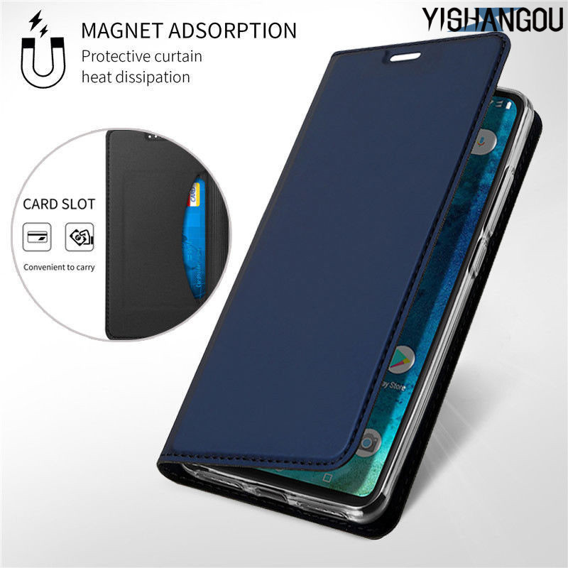 Magnetic <font><b>Flip</b></font> Book <font><b>Case</b></font> For <font><b>Xiaomi</b></font> <font><b>Mi</b></font> 8 SE A1 A2 Lite F1 Slim Leather Card Holder Cover For Redmi Note 7 6 Pro 6A S2 5 Plus 4X 4 image