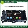 8 дюймов Емкость Сенсорный Экран Автомобиля Медиа-Плеер для Honda Accord (2008-2012) Gps-навигация Bluetooth