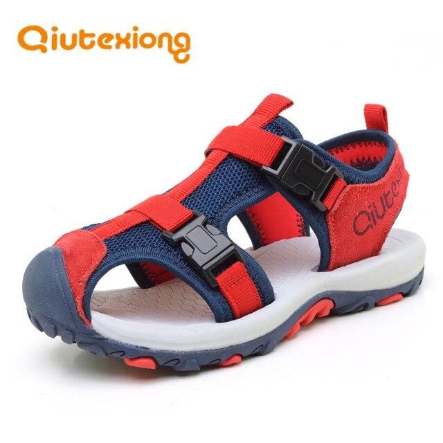 53d38ce45dc9e QIUTEXIONG Enfants Chaussures Garçons Sandales En Cuir Véritable D été  Plage Enfants Sandales Respirant Cut