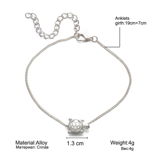 IF YOU New Design Sea Turtles Single Layer Anklet Vintage Dragonfly Style Charm Chain Foot Anklet For Women Jewelry Drop Shipper 1