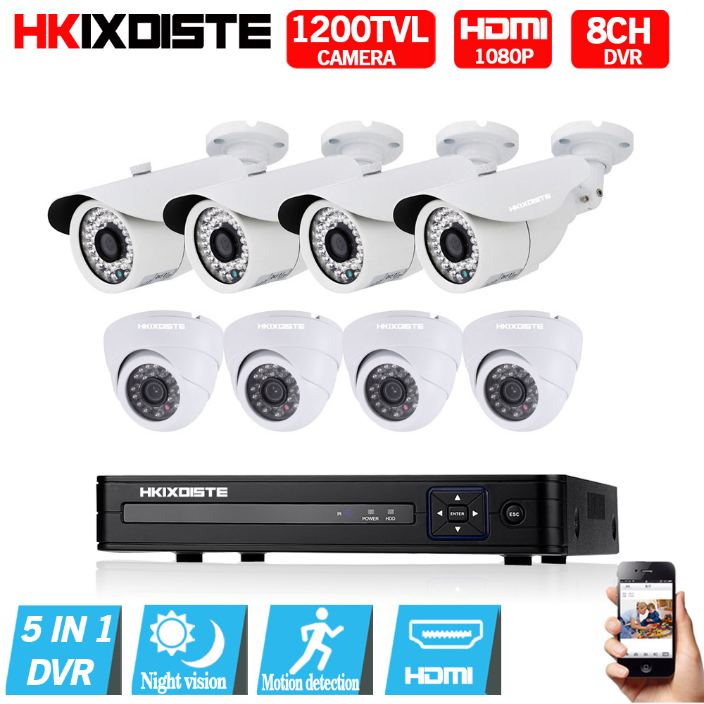8CH 1080N DVR 1080P HDMI CCTV Camera System Video Recorder 8PCS 1200TVL IndooHome Security Night Vision Camera Surveillance Kits8CH 1080N DVR 1080P HDMI CCTV Camera System Video Recorder 8PCS 1200TVL IndooHome Security Night Vision Camera Surveillance Kits