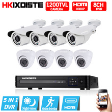 8CH 1080N DVR 1080 P HDMI CCTV Камера Системы видео Регистраторы 8 шт. 1200TVL IndooHome безопасности Ночное видение Камера наблюдения Наборы