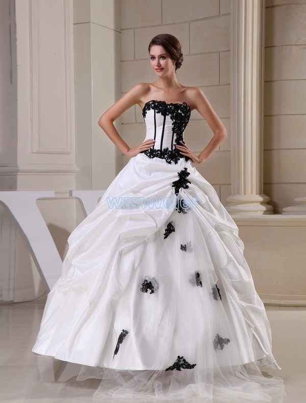 free shipping monalisa hot sale ball gown new design fashion black appliques custom size color