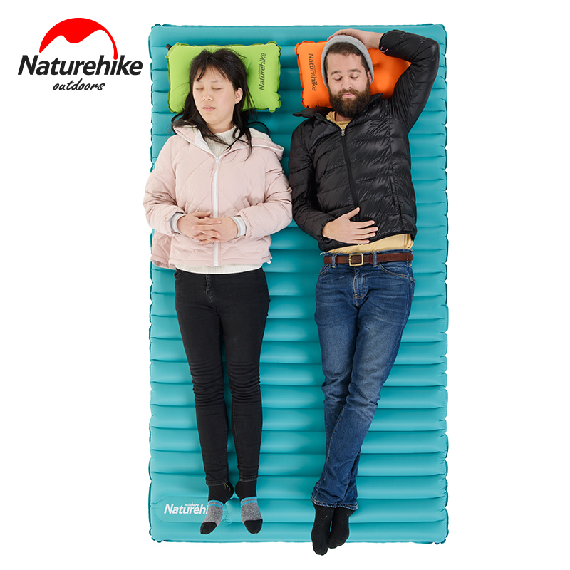 Naturehike 2-3person Inflatable ultralight Cushion Camping Mat Tent Air Mattress Outdoor moisture-proof Pad