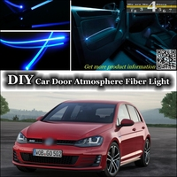 interior Ambient Light Tuning Atmosphere Fiber Optic Band Light For Volkswagen VW Golf 3 4 5 6 7 Rabbit Caribe Cabrio Door
