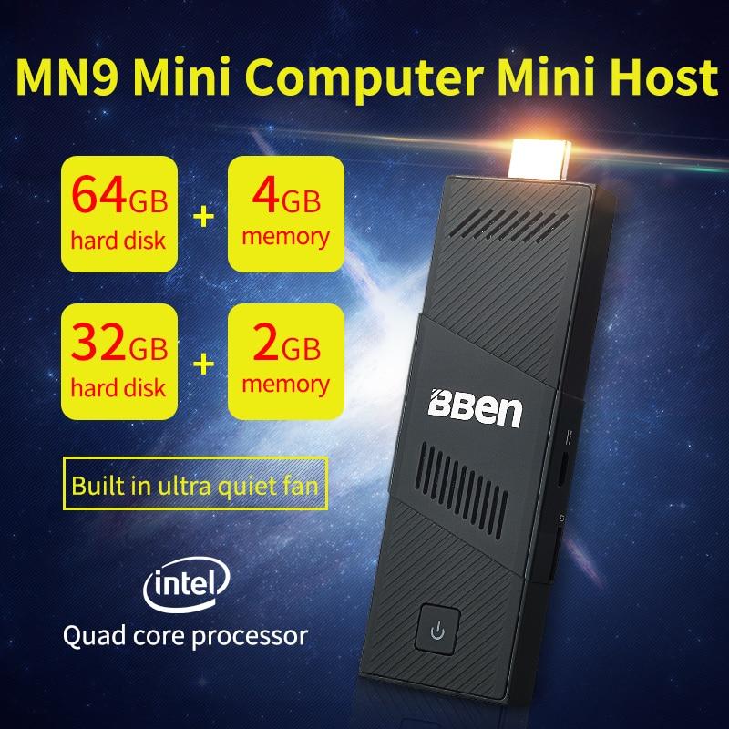 1 piece Portable Mini PC Windows10 WiFi 1.44-1.84GHz TV Stick intel z8350 processor Quad Core HDMI wifi fan 4GB+64GBB 2GB+32GB