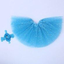 baby skirts tutu kid girl star glitter dance tutu skirt sequin with 3 layers tulle tutu toddler girl chiffon pettiskrit headband