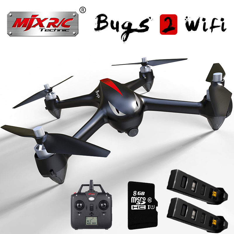 MJX B2W Bugs 2 1080P HD Camera gps Brushless RC Quadcopter Drone With 5G wifi Fpv Altitude Hold Headless RC Aircraft Toys