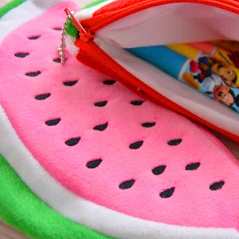 MIRUI حجم كبير البطيخ مدرسة الاطفال القلم حقيبة أقلام رصاص قلادة هدية مستحضرات التجميل محفظة محفظة حامل الحقيبة اللوازم المدرسية