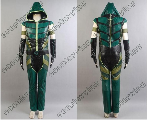 Hot Sell Smallville Justice League Green Arrow Hoodie Cosplay Costume