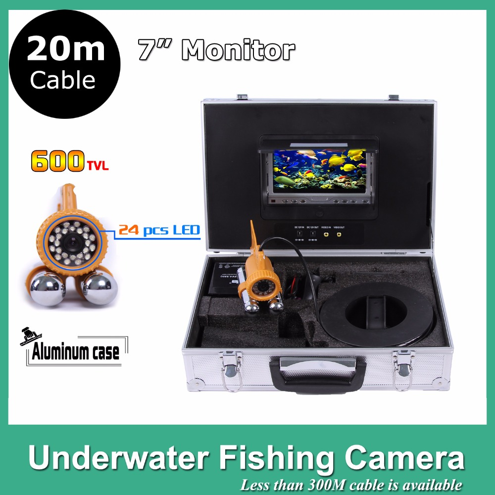7 TFT LCD Monitor 24pcs LED Light 600TVL camera Underwater Endoscope Video Inspection Fishing Camera Ki 20M Cable 8 4inch 8 4 non touch industrial control lcd monitor vga interface white open frame metal shell tft type 4 3 800 600