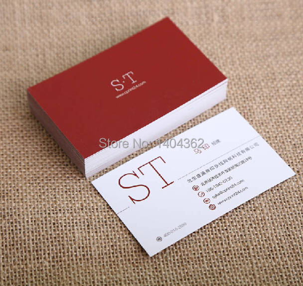 Us 23 71 15 Off Free Design Custom Business Cards Business Card Printing Paper Calling Card Paper Visiting Card 500 Pcs Lot In Business Cards From