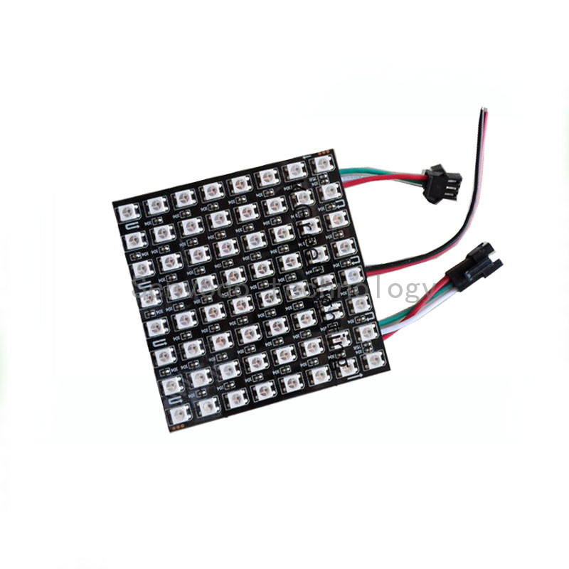 цена 1X Flexible APA104 RGB LED pixel led matrix display 64LEDs/150LEDs/256LEDs/280LEDs/660LEDs LED video display free shipping