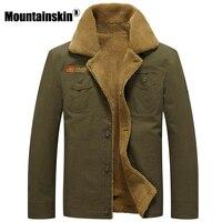 Mountainskin Thicken Fleece Winter Jackets Men S Coats 5XL Cotton Fur Collar Men S Jackets Military