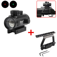 Red Green Dot Sight Scope Hunting Airsoft Collimator with AK 74 Rail Side Mount Quick QD Style 20mm Detach Rail Lock Scope Mount цена