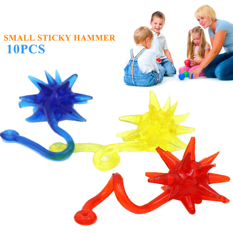 Squishy Hands Toy Sticky Hands Hands Gags 10pcs Color Random Stretchy Kids Favors Funny Glitter Toy Gifts Gadgets & Gifts