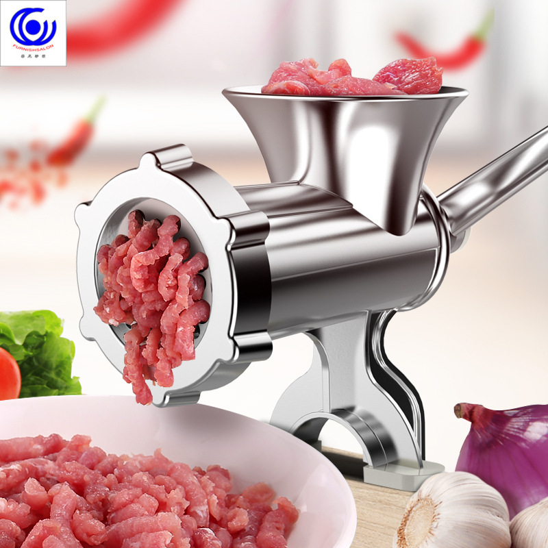 4 sizes 4in1 multifunctional meat grinder manual homemade crusher sausage Syringe Filler extruder mince enema free gift 3 tubes