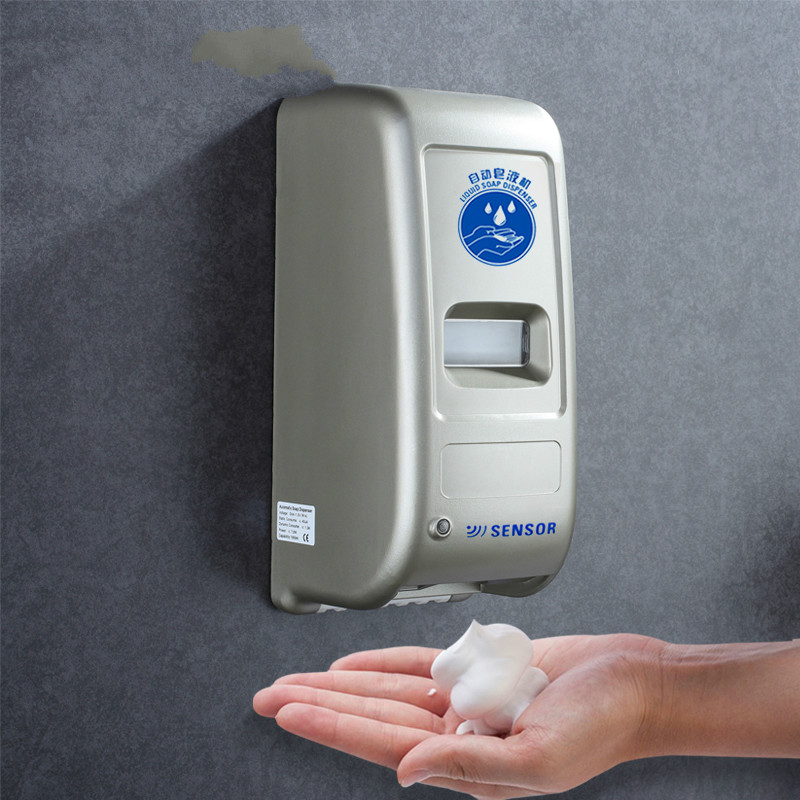 Distributeur de savon entièrement automatique capteur distributeur de savon désinfectant pour les mains hôtel boîte de gel de douche perforé mural mousse domestique