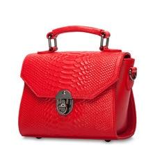 HANSOMFY  Genuine Real Leather Handbag Women Small Female Luxury Famous Brands Tote Shoulder Messenger Bag