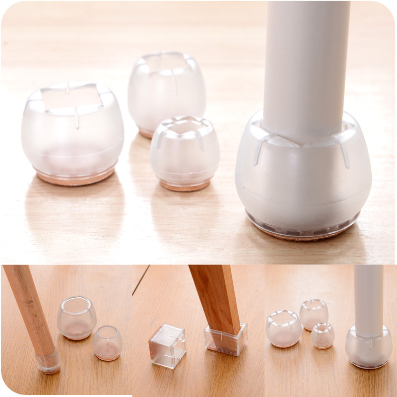 1pcs Plastic Furniture Table Chair Cabinet Leg Foot Feet Mat Pad Protector Base Cap Cover Antiskid Floor Protection Silencer HT