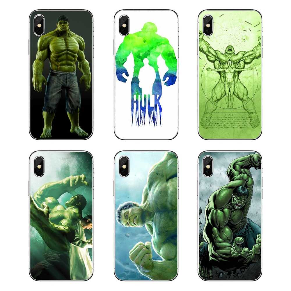 Coque souple Marvel Comics Hulk Crazy giants super-héros Robert Bruce pour iPod Touch iPhone 4 4 S 5 5 S 5C SE 6 6 S 7 8 X XR XS Plus MAX