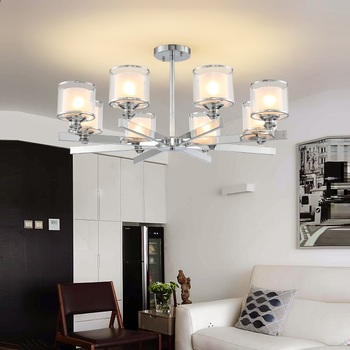 Modern Chandelier Chrome Metal Led Chandeliers Lighting Crystal Living Room Led Pendant Chandeliers Lights Bedroom Lights american country pastoral living room chandelier led lamp bedroom iron chandelier lighting rose chandeliers