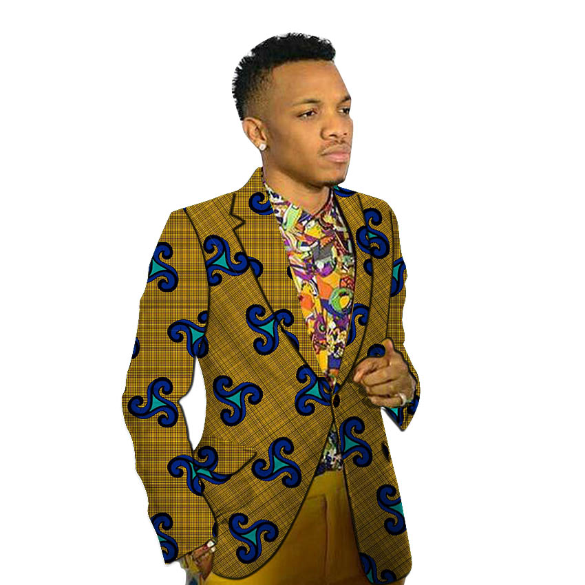 African Fashion Men's Blazers Print Suit Jacket Business Blazer Wedding/party Business Design Dashiki Male African Clothing