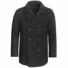 Coat Custom-Made Fall/winter Wool for Classic Double-Breasted with Heavy-Wool-Blend Pea