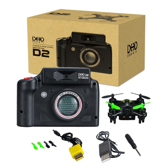 DHD D2 Mini RC Drone Com Câmera Quadcopter Drones Voando Helicóptero Brinquedos de Controle Remoto Profissional VS JJRC H20 CX10W CX-10WD