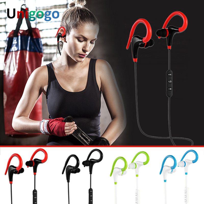 2018 U40 Sport Earphone Bluetooth Headphones Stereo Wireless Earbuds With Mic Hifi Headset hands-free for Iphone phone xiaomi hlton portable wireless bluetooth earphone handsfree mini headset stereo earbuds car fast charger with mic for smartphone pc