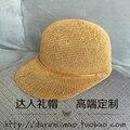 La primavera y el verano, habiendo H decoración del hogar de metal tapa de malla transpirable gorra de béisbol sombrero tapa ecuestre sombrero sombreado uv