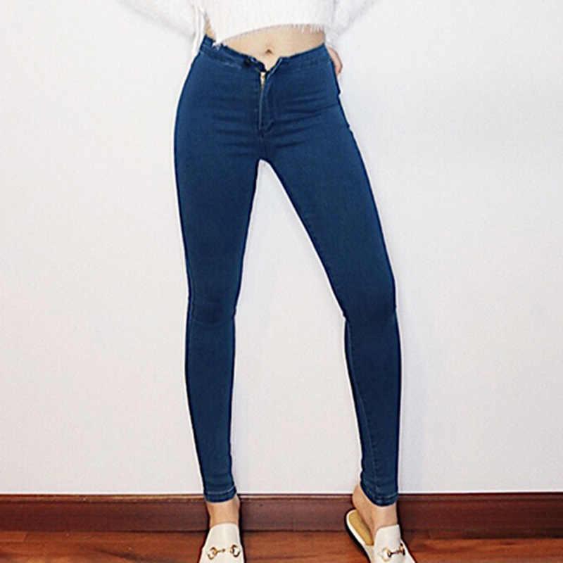 6a91b407937 Подробнее Обратная связь Вопросы о Джинсы женские джинсовые узкие брюки  Винтаж Высокая талия джинсы Для женщин Повседневное стрейч обтягивающие  джинсы Femme ...