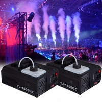 2pcs 1500W Low Fog Smoke Machine Fogger Up DJ Party Remote controller DMX controller 220V Stage Lighting
