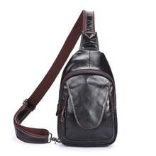 New Male bag genuine leather Shoulder Chest bag luxury men bags designer vintage soft skin Men's messenger travel handbags bags