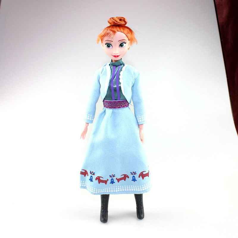 Игрушки Принцессы Дисней Холодное сердце Эльза Анна Кукла Снежная королева дети девочки игрушки День рождения рождественские подарки для детей Шарон куклы