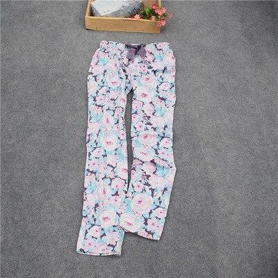 Женские брюки; длинные брюки; тканые хлопковые брюки для сна; женские брюки - Цвет: Rose