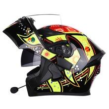 NEW Motorcycle bluetooth helmets Double Visor Flip Up Helmet