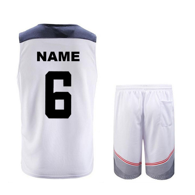New 5XL Personalized Custom Dream Team cheap Basketball Clothes ...