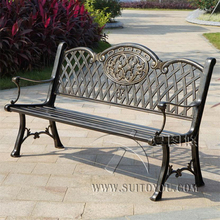59 inch backrest cast aluminum leisure rust proof park bench garden chair for backyard