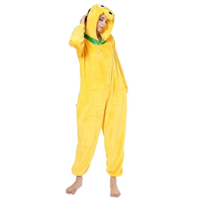 Дропшиппинг для взрослых высокое качество Желтая Собака кигуруми комбинезоны пижамы животных аниме мультфильм пижамы костюмы для косплея