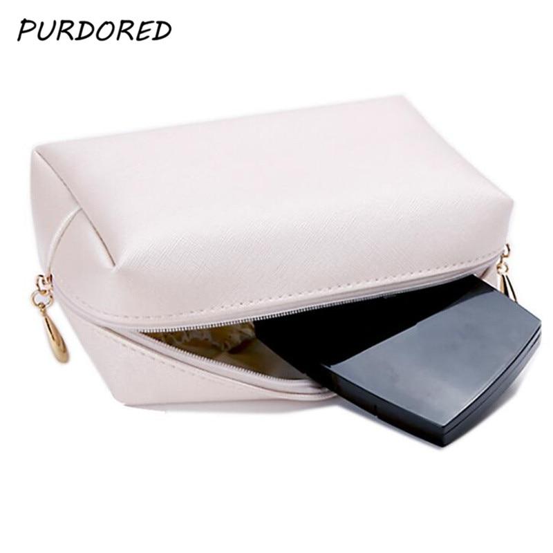 PURDORED 1 pc Solid Makeup Bag Travel Women Cosmetic Bag Toiletry Bag Beauty Case maquiagem neceser kosmetyczka Dropshipping