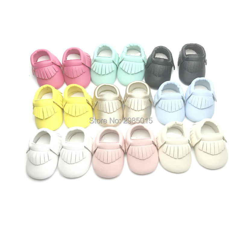 Free Shipping New Hot Sell Tassel Pu Leather Baby Shoes Girls Boys Baby Moccasins Newborn Shoes Non-slip Footwear Crib Shoes