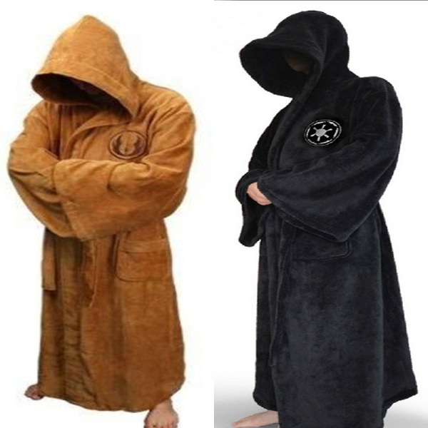 Star Wars Jedi Bath Robe Knight Bad Vuxen Albornoz Carnival Cosplay Kostym Gratis frakt